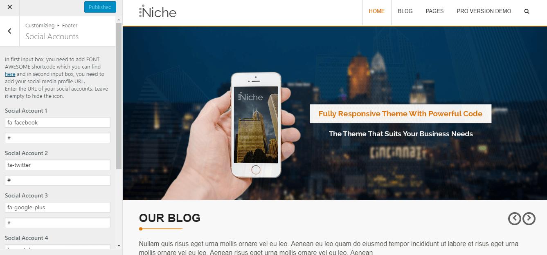 Niche Theme Documentation
