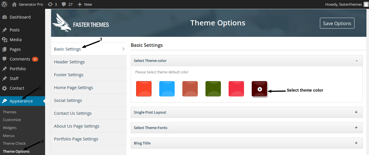 changing theme color