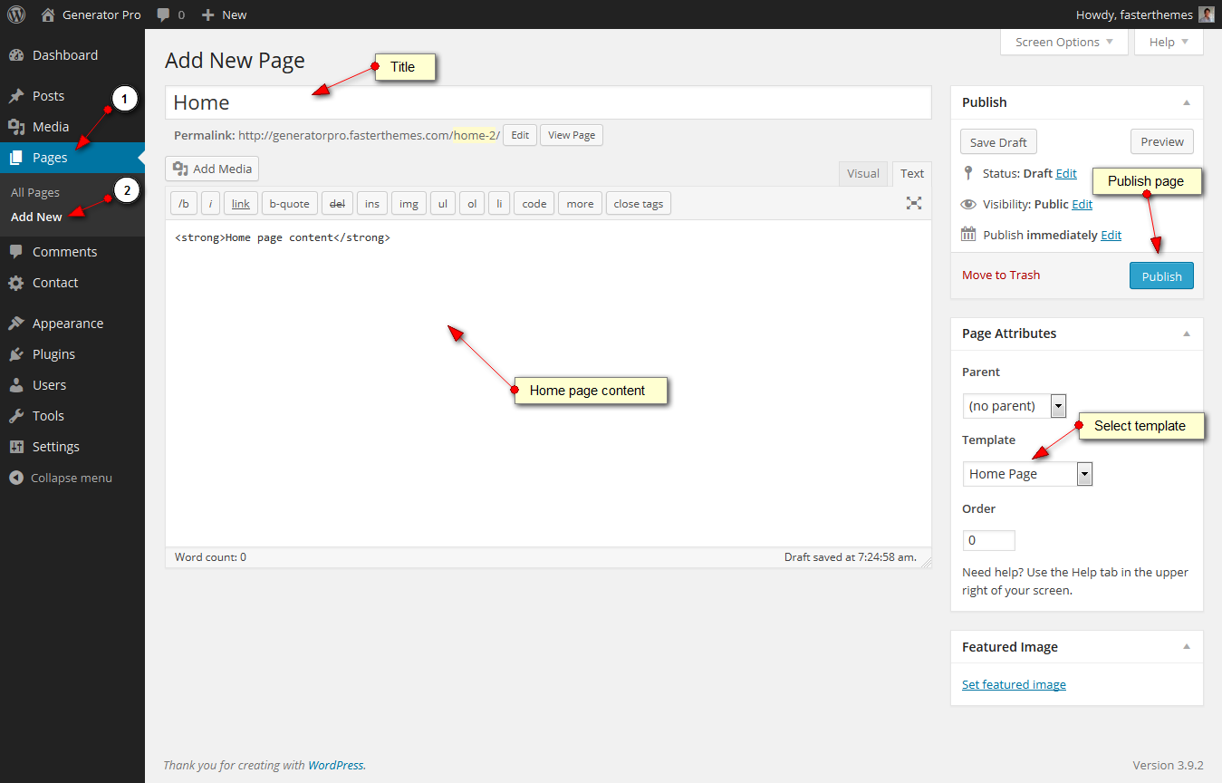 gen home page backend